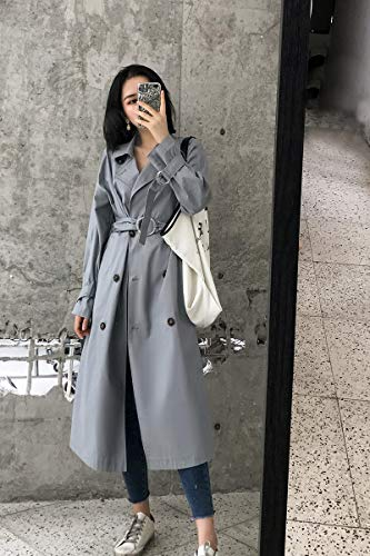 Trench Coupe fit Slim Vent Femme Coupe Genou DWYJ aq7xUZnU