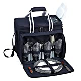 Picnic at Ascot Equipped Insulated Picnic Cooler with Service for 4 - Navy