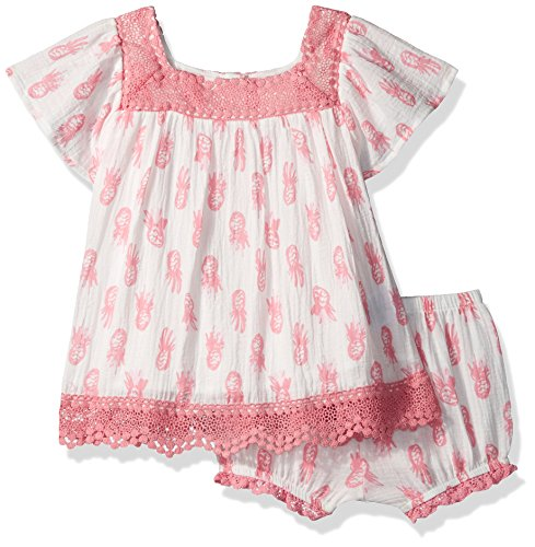 Price comparison product image Jessica Simpson Toddler Girls' Flutter Sleeve Dress, Pny Print, 3T