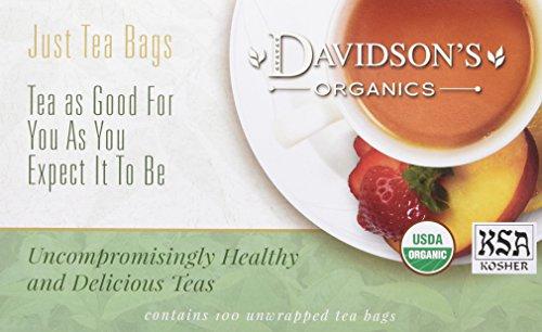 Davidson's Tea Moroccan Mint, 100-Count Tea Bags Organic Clear Honey