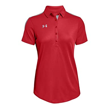 Under Armour UA Team Colorblocked Polo XS Red: Amazon.es: Ropa y ...