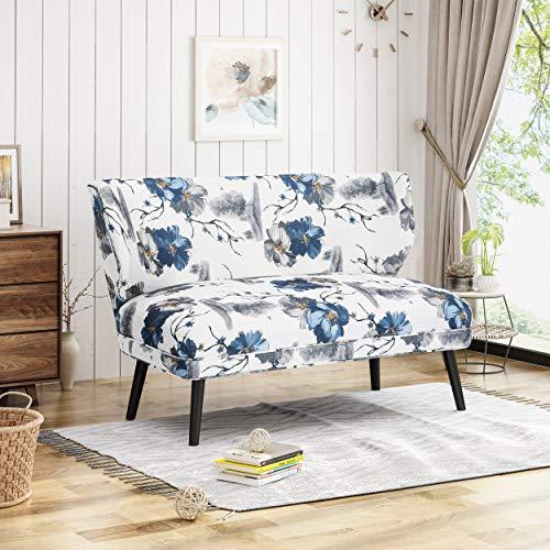 Christopher Knight Home 306266 Dumont Modern Farmhouse Fabric Settee, Print,