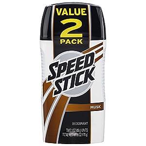 Speed Stick Men's Deodorant, Musk - 3 Ounce (2 Pack)