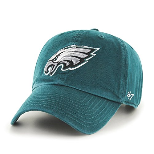 '47 NFL Philadelphia Eagles Clean Up Adjustable Hat, Pacific Green, One Size