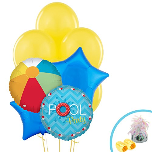 BirthdayExpress Summer Beach Ball Pool Party Supplies - Balloon Bouquet