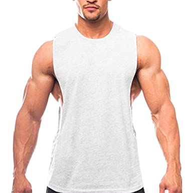 JiXuan Musculation Fitness Muscle Fitness Gilet sans Manches Tops Homme  Gymnase Bodybuilding Fitness Yoga Stringer Débardeur 5b941bf1e15