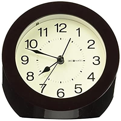 DecoMates Non-Ticking Silent Wall and Desk Alarm Clock, Small, Timeless, Brown - Non-ticking, silent clock Design is simple yet modern and stylish Transforms into a desk clock or a wall clock - clocks, bedroom-decor, bedroom - 51b5H88SOML. SS400  -