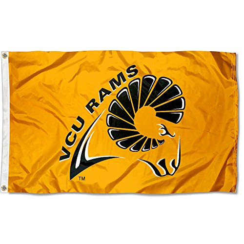 VCU Virginia Commonwealth Rams University Large College Flag by College Flags and Banners Co.