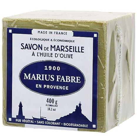 savon de marseille vert 400g marius fabre