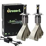 Green-L CREE Chip H4 LED Headlight Bulbs Conversion Kit for Vehicle Indicators Lights 90W 9000LM 6000k (Pack of 2pcs)