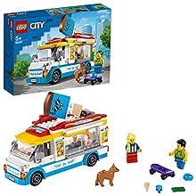 LEGO City Great Vehicles - Camión de los Helados, Juguete de Construcción, Recomendado a Partir de 5 Años, con Camión de Venta de Helado, 2 Minifiguras y un Perro (60253) , color/modelo surtido