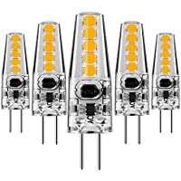 KINDEEP Lampadina LED, Attacco G4-5W/400LM, equivalente a 40W Lampada Alogena, Bianco Caldo 3000K - DC/AC 12V, Trasparenti,Confezione da 5