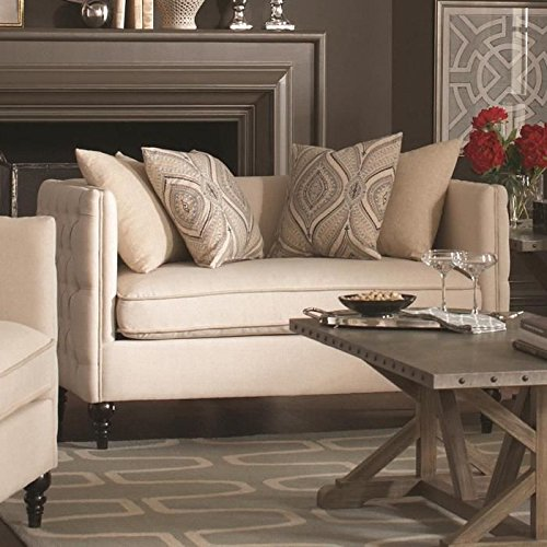 Coaster 504892 Home Furnishings Chair and A Half, Oatmeal