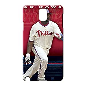 samsung note 3 Shock Absorbing Plastic Protective Cases mobile phone case philadelphia phillies mlb baseball