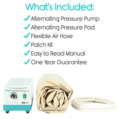 Alternating-Pressure-Mattress-by-Vive-Includes-Electric-Pump-Mattress-Pad-Inflatable-Bed-Pad-for-Pressure-Ulcer-and-Pressure-Sore-Treatment-Fits-Standard-Hospital-Beds
