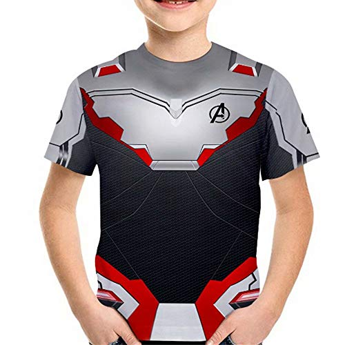 Tsyllyp Superhero Shirts Children Halloween Costume Kids Short Sleeve Tee -