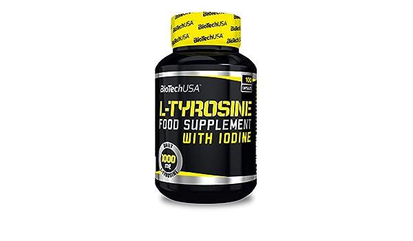 Biotech L-Tyrosine Aminoácido 500 mg - 100 Cápsulas: Amazon.es: Salud y cuidado personal