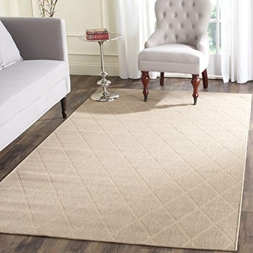 Safavieh Palm Beach Collection PAB514A Hand Woven Seagrass Jute Area Rug 4 x 6