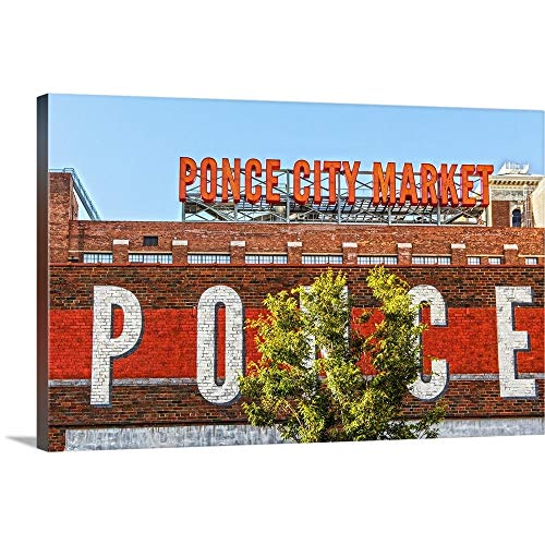 Gallery-Wrapped Canvas Entitled Neon Letters and a Mural at Ponce City Market in Atlanta, Georgia by Circle Capture 36