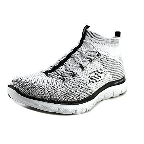 Skechers 0 On 2 Slip White Black Shoes Women's Flex Hourglass High Appeal Ankle rBzrIOxw
