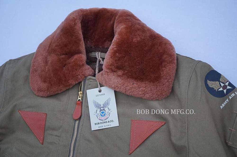 BOB DONG USAAF B-15A Flight Jacket Vintage US Army Men/'s Bomber Flying Coat B-15