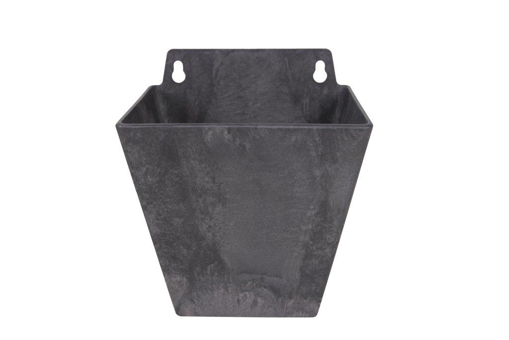 Artstone flowerpot wall hanger Ella, frost resistant and lightweight, Taupe, 14x12x16cm TER STEEGE 122502
