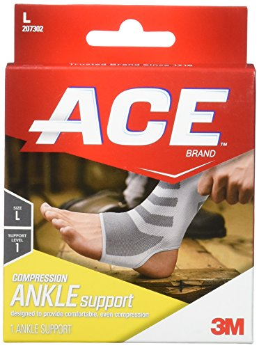 ACE Knitted Ankle Support, Large, 1 Count (Ace Ankle Support)