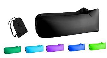 Amazon.com: Jsutyer Tumbona inflable portátil, sofá ...