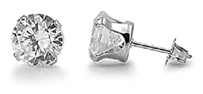 925 STERLING SILVER CUBIC ZIRCONIA CZ SMALL ROUND 3MM STUD EARRINGS. UNISEX. BRAND NEW & BOXED. 9vKHD