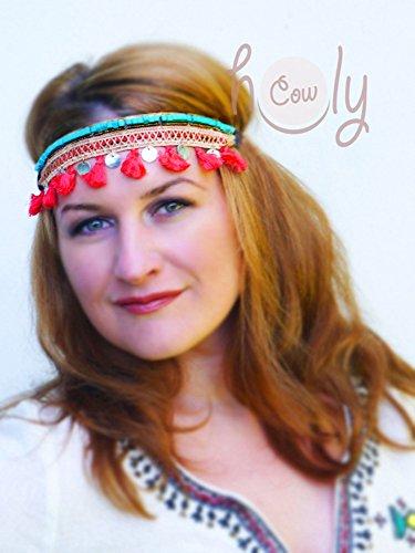 Beautiful Hippie Turquoise Beaded Headband