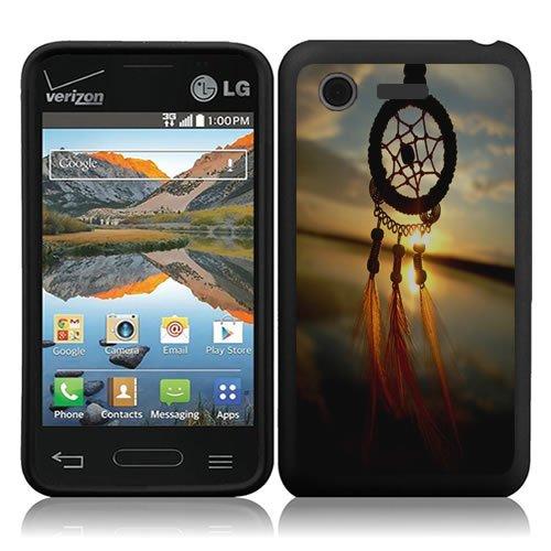 URAKKI Cloud Feather Dream Catcher Design Slim Fit Hard Case Phone Cover for LG Optimus Fuel L34C