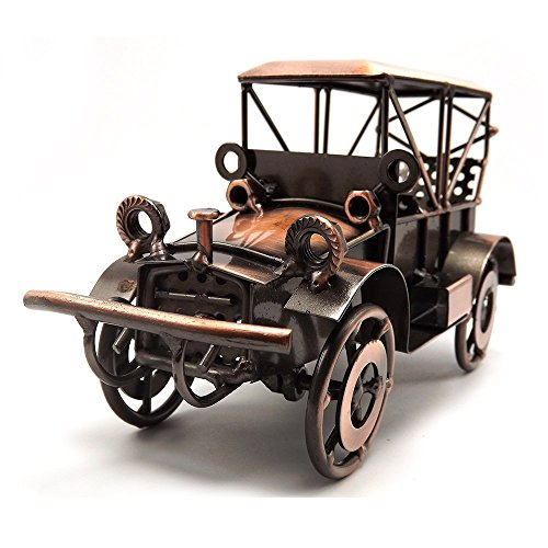 Metal Antique Vintage Car Model Home Décor Handmade Handcrafted Collections Collectible Vehicle Toys (Bronze) -