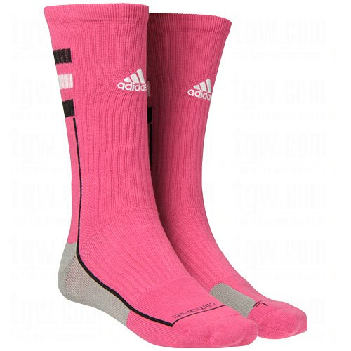 Price comparison product image Adidas Men's Climalite Team Speed Crew Socks-Pink-Large