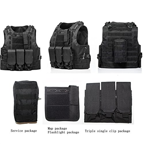 Review Hannah fit Tactical Molle Airsoft Vest Paintball Combat Soft Vest Black