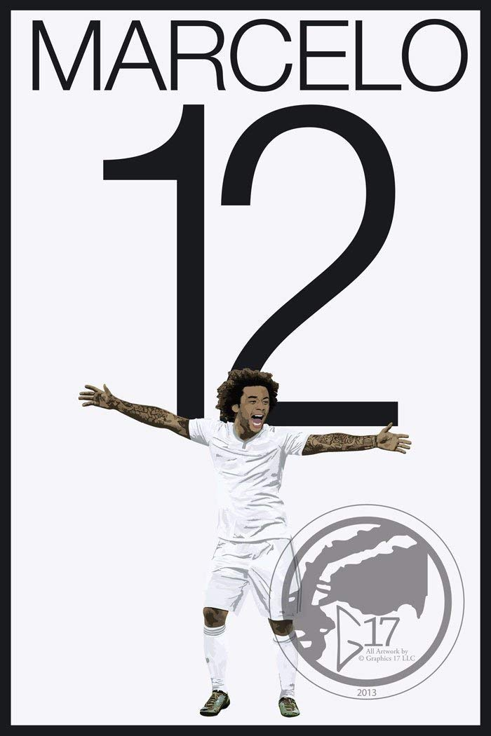 Marcelo Poster - Real Madrid Art
