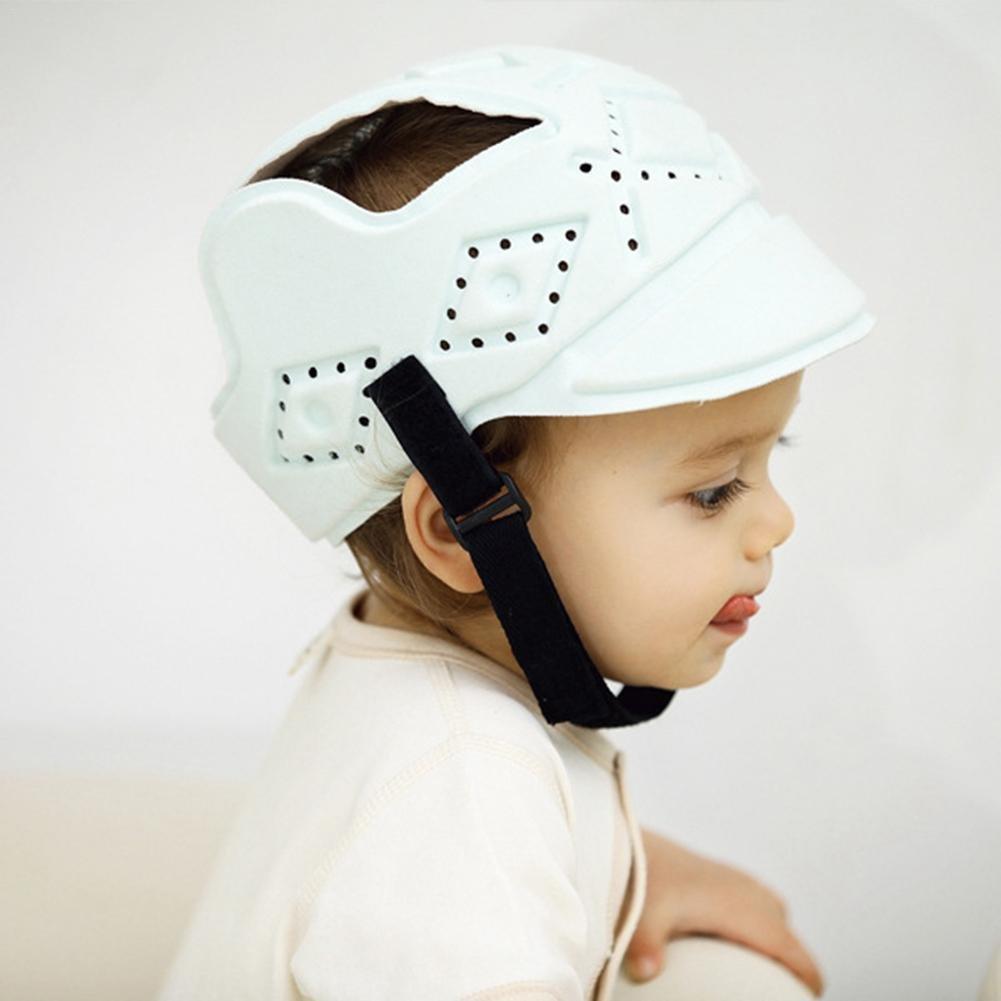 Casco de seguridad para bebé, anti colisión, con protección para la cabeza, sombrero y botón, ultraligero: Amazon.es: Bebé