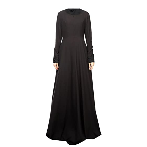 Meijunter Muslim Women Clothing Kaftan Abaya Islam Long Sleeve Dress Loose Robe