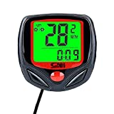 Multifunction Bicycle Cycle Cycling Wired Odometer Computer Waterproof with Backlight LCD Screen
