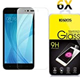 [6 Pack] Khaos For Xiaomi Redmi Note 5 HD Clear Tempered Glass Screen Protector , with Lifetime Replacement Warranty