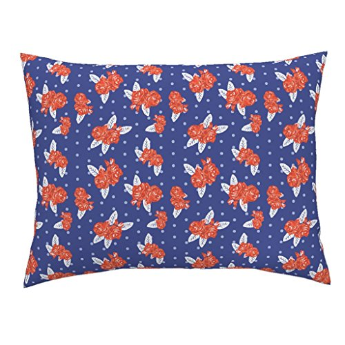 Florida Gators Flower - Roostery Florida Gators University Sports Football Colleges Flowers Standard Knife Edge Pillow Sham Flowers Florida Orange and by Charlottewinter 100% Cotton Sateen