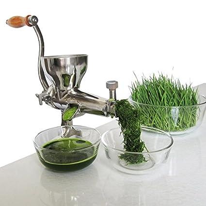 zhazhiji Uso doméstico mano de hierba de trigo licuadora extractor de jugo de patata tomate pepino
