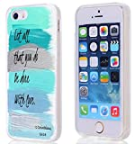 5S Case/SE,Hungo Soft TPU Silicone Protective Cover Case Compatible with iPhone 5/5S/SE SE Christian Sayings Bible Verses 1 Corinthians Let All That You Do Be Done with Love