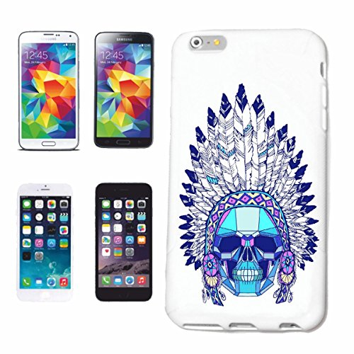 "cas de téléphone iPhone 7 ""Red Chief CRÂNE AVEC INDIAN HEADGEAR INDIAN WESTERN INDIENS"" Hard Case Cover Téléphone Covers Smart Cover pour Apple iPhone en blanc"