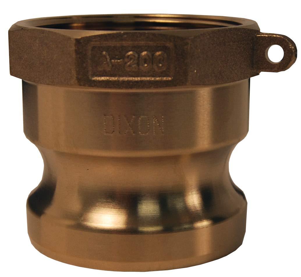 2.5 ID Dixon G250-A-BR Global ASTMC38000 Female NPT x Male Adapter ASTMC38000 Forged Brass 2.5 ID
