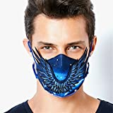 MeHow Star Wings Pattern MeHow Anti-pollution Mouth Mask Face Respirator PM2.5 Cute Anti Haze Dust Mask Washable Cotton Mouth Masks with Replaceable Filter (1 Mask + 2 Filters)
