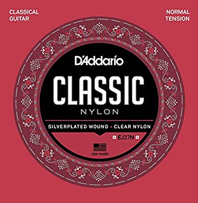D'Addario EJ27N Student Nylon Classical Guitar Strings, Normal Tension from D'Addario &Co. Inc