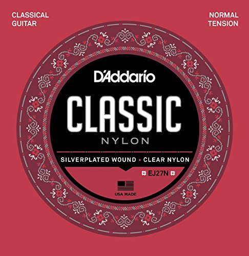 (D'Addario EJ27N Student Nylon Classical Guitar Strings, Normal Tension)