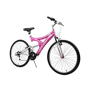 "Dynacraft Women's 26"" 21 Speed Air Blast Bike, 17.5""/One Size, Pink/White"