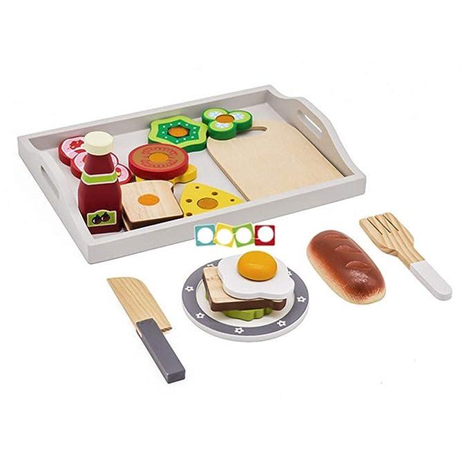 Maybesky Juguete Educativo Sistema Educativo del Desayuno de la Cocina de los Juguetes educativos de la educación temprana de los niños Regalo de cumpleaños para niños niñas Desarrollo de habilidades motoras Bebés y primera infancia
