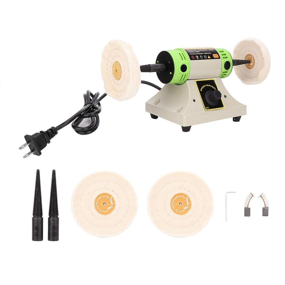 Fast Rotate Speed Low Noise Stable Performance Clina Portable Exquisite Polisher Jewelry Buffing Machine with 2 Buffing Wheels for Professional Use /& Home Use Bench Polishing Buffer Machine